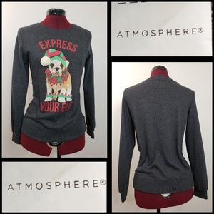 ATMOSPHERE WOMAN LONG SLEEVE GRAY SWEATER SIZE 4